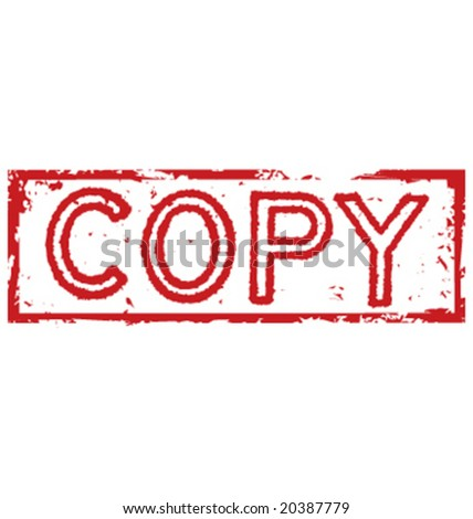 shredded copy stamp label