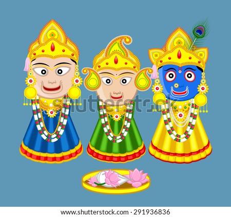 Shri Jagannath - Orissan God - stock vector