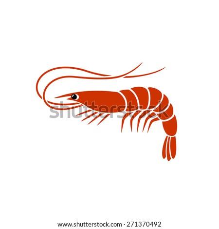 Shrimp Logo Vector Shrimp Silhouette Logo
