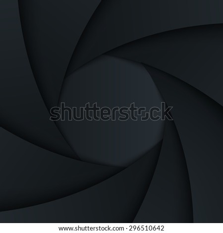 Shutter aperture. Vector background.