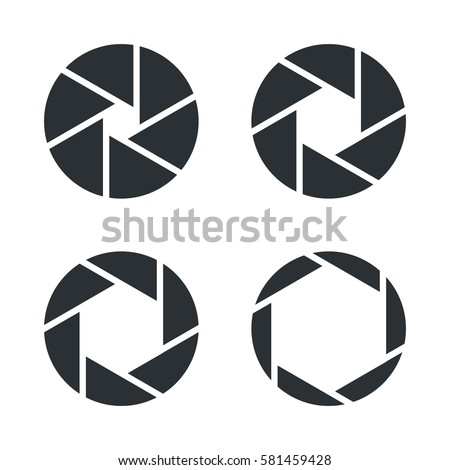 shutter aperture vector icons stock vector 581459428 shutterstock rh shutterstock com aperture vector ai aperture vector image