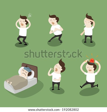 Sick - stock vector