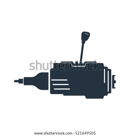 Side Gear Box Gear Shift Transmission Stock Vector 521649505