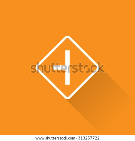 Side Road Left Sign - stock vector