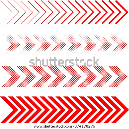 Arrow Set . Linear Dots Arrow . Arrow Design . Arrow Collection . Arrow Art. Abstract Arrow . Arrow Geometric. Arrow Icon . Modern Arrow . Arrow Logo. Vector Arrow . Stylized Arrow . Set Of Arrows . - stock vector