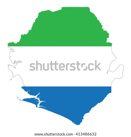 Sierra Leone Map Stock Vector Shutterstock - Sierra leone map