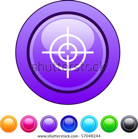 Sight glossy circle web buttons. - stock vector
