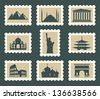 Sights set - stock vector