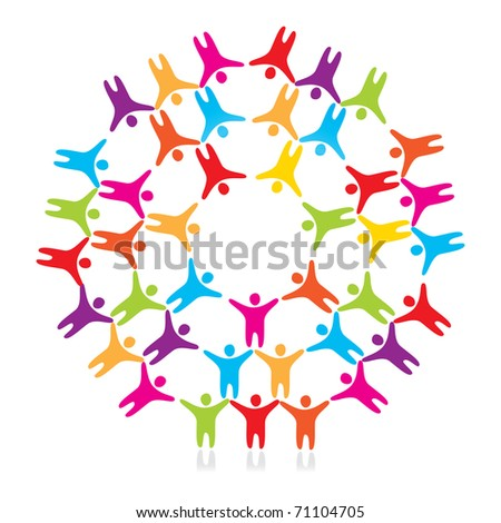 sign - a friendship of the peoples - stock vector