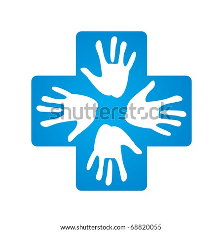 sign - a helping hand - stock vector