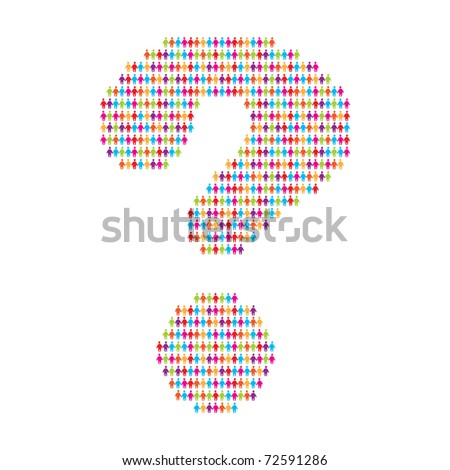 sign - a question mark - stock vector