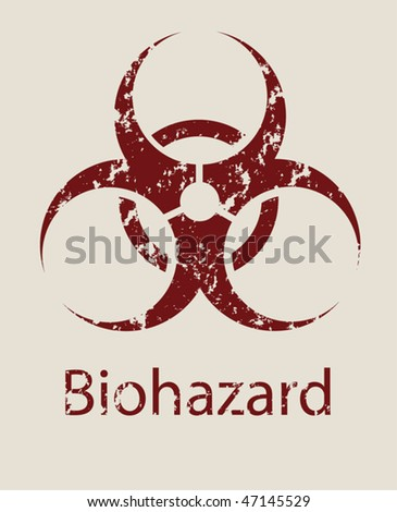 Sign a symbol of biological danger Biohazard - stock vector