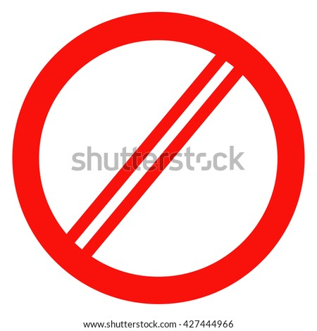 prohibition no symbol red round stop stock vector 394670473