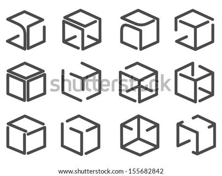 sign box  silhouette - stock vector