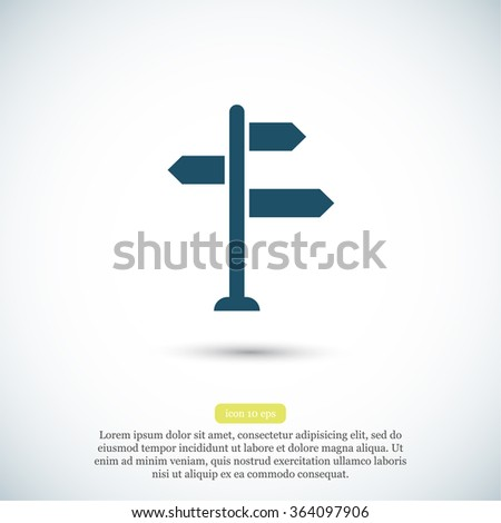 sign directs vector icon - stock vector