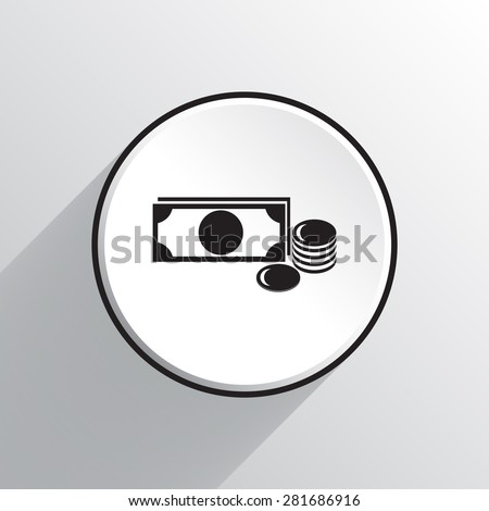 Sign dollar vector icon  - stock vector