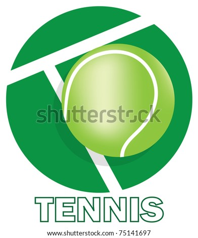 SIGN FOR TENNIS CLUB - stock vector
