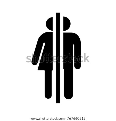 Sign  icon male and female toilet  Vector illustration. Simple Basic Sign Icon Male Female Stock Vector 762675058