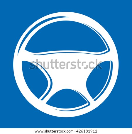 Sign in the form of auto Steering wheel - stock vector