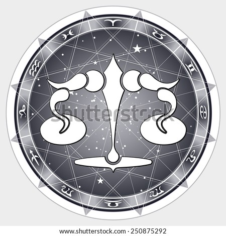 sign Libra , vector illustration