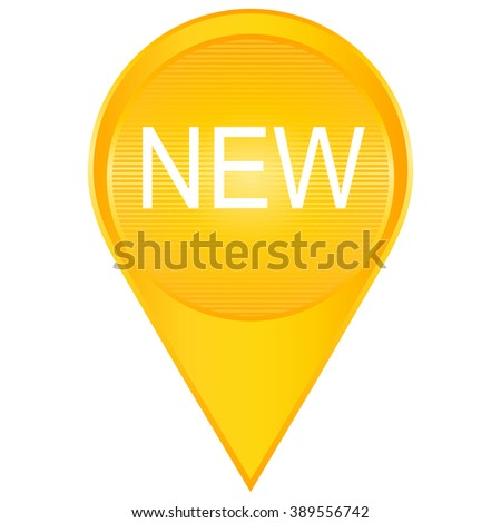 Sign New. New signs. Isolated vector in yellow. - stock vector