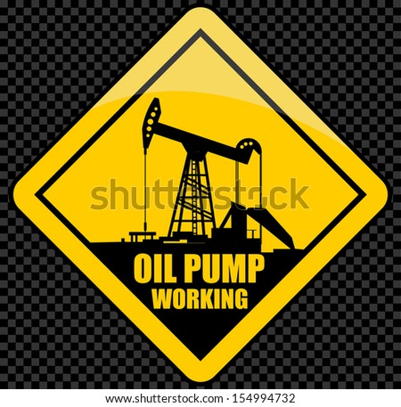 sign of an oil pump - stock vector