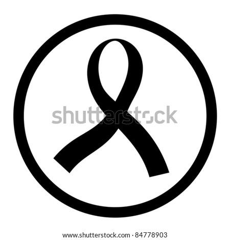 Sign of black ribbon - stock vector