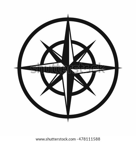 Sign Compass Determine Cardinal Directions Icon Stock Photo Photo