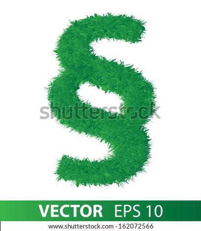 sign of green grass on white background, vector eps 10 illustration - stock vector
