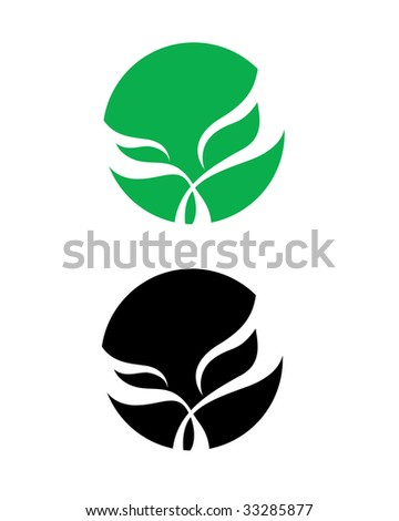 Sign of leaf - stock vector