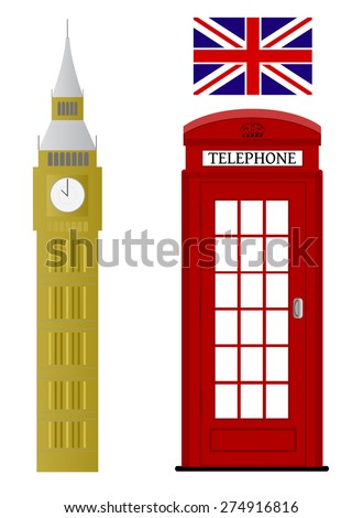 Sign of London related vectors - stock vector