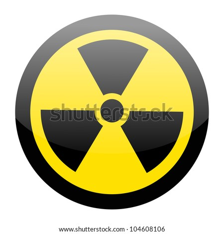 Sign of radiation on white - stock vector