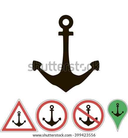 sign of the anchor on a white