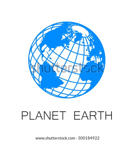 Sign of the Earth. Template logo for the company, association, foundation, union. - stock vector