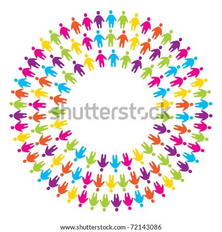 sign of unity of people - stock vector