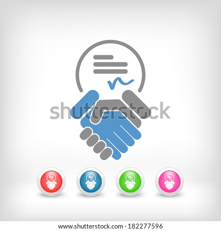 Sign on agreement document - stock vector