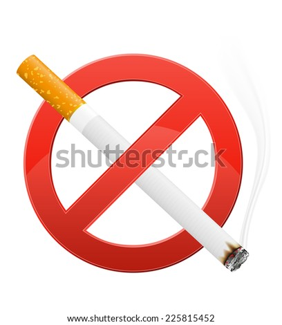 sign prohibiting smoking vector illustration isolated on white background - stock vector
