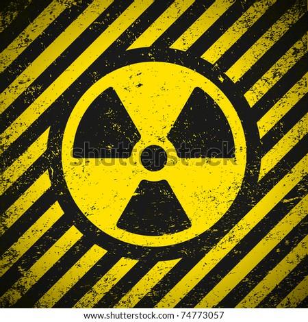 Sign radiation. Vector illustration. Eps10 - stock vector