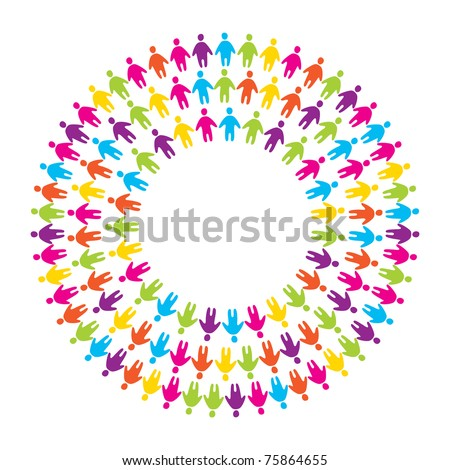 sign-symbol - the unity, friendship and alliance - stock vector