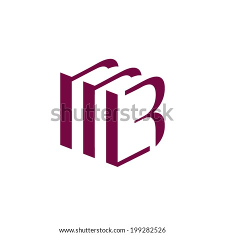 Sign the letter B Branding Identity Corporate vector logo design template Isolated on a white background - stock vector