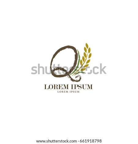 sign letter q branding identity corporate stock vector 661918798