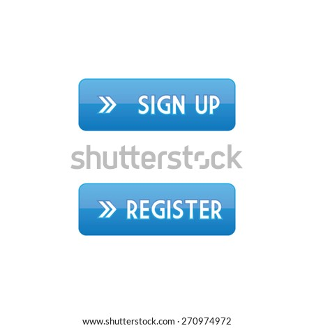 Sign Up and Register Buttons - stock vector