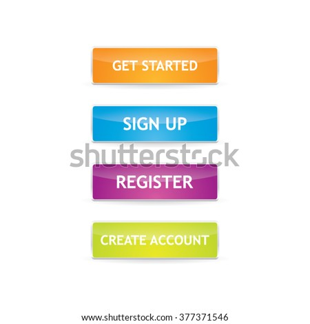Sign Up Buttons - stock vector