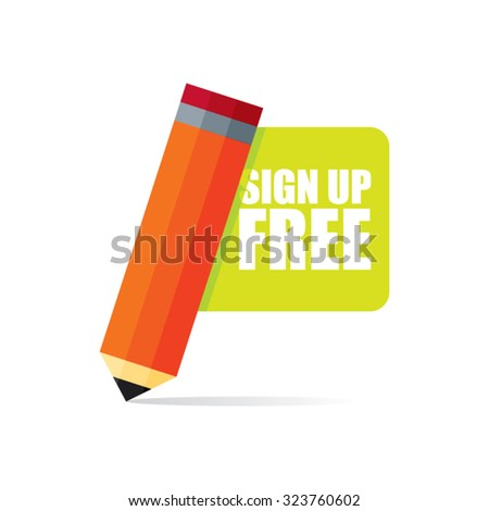 Sign Up Free Vector Illustration - stock vector