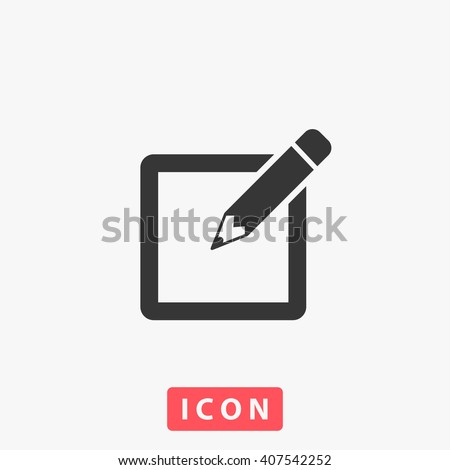 sign up Icon.  - stock vector