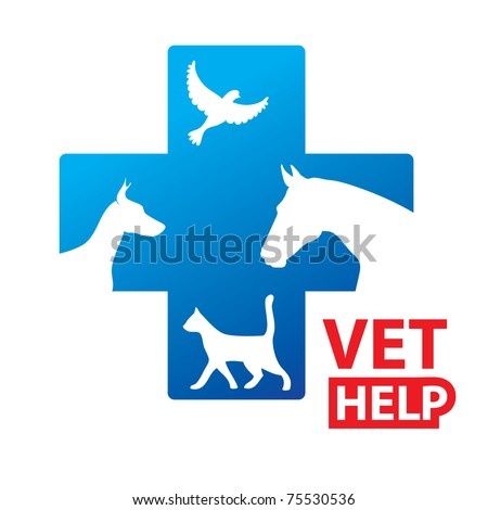 Sign - Veterinary Relief Services - stock vector