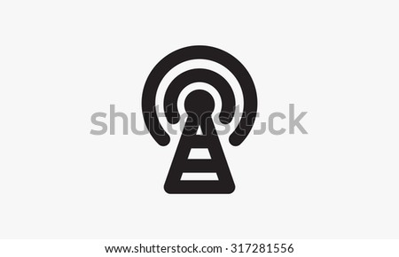 Signal icon - stock vector