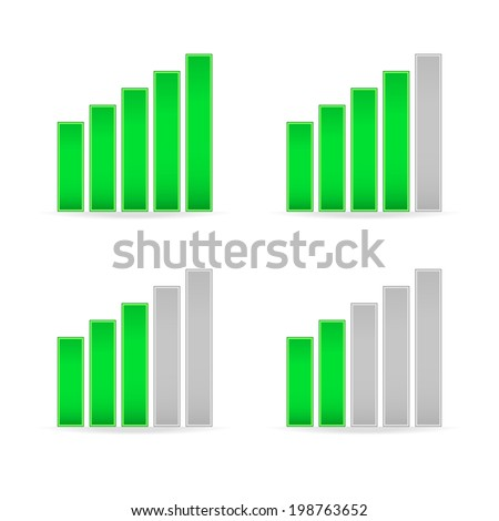 Signal strength indicators - stock vector