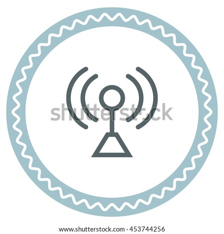 Signal strength sign line vector icon. Wi Fi signal vector icon. Wireless connection symbol. - stock vector
