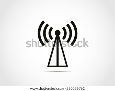 Signal Tower Icon - stock vector
